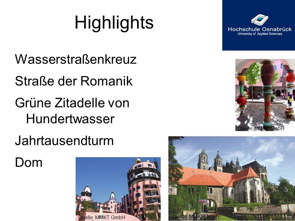 Highlights Wasserstraßenkreuz Straße der Romanik