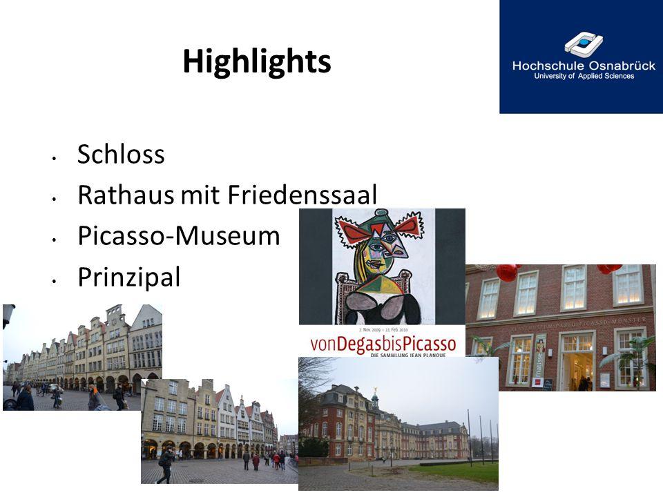 Highlights Schloss Rathaus mit Friedenssaal Picasso-Museum Prinzipal