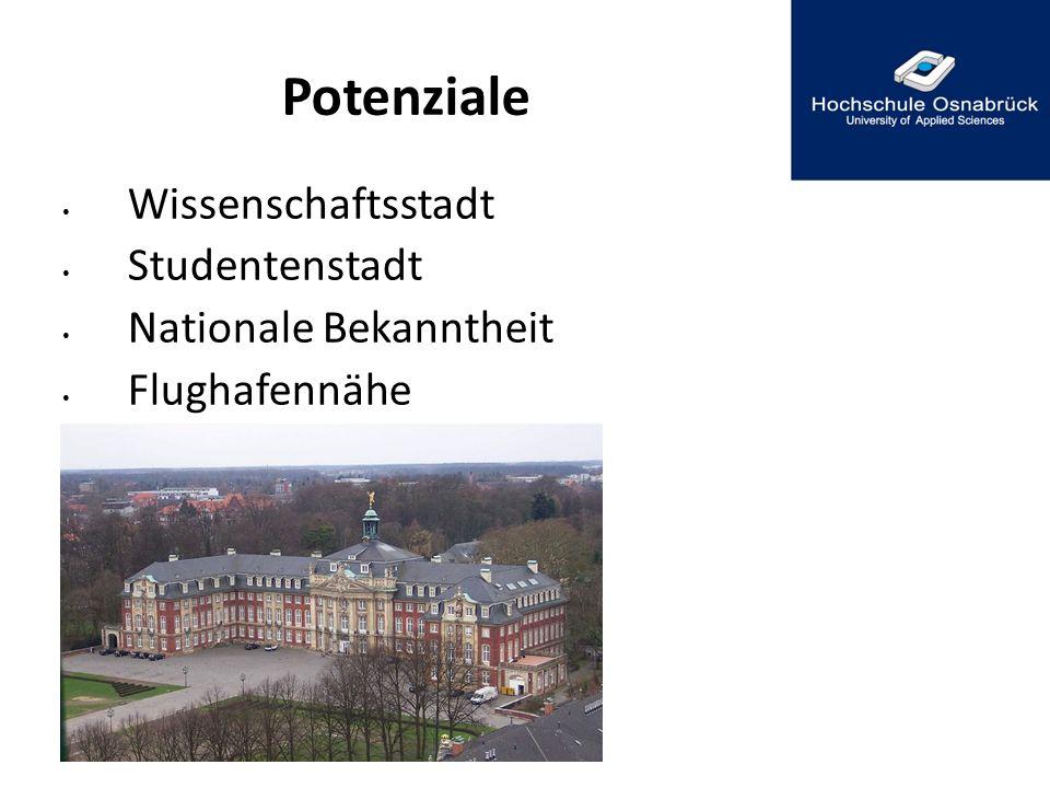 Potenziale Wissenschaftsstadt Studentenstadt Nationale Bekanntheit