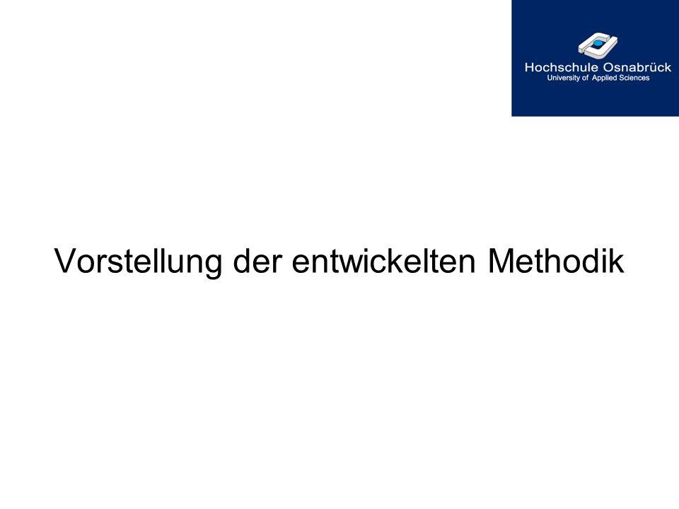 Vorstellung der entwickelten Methodik