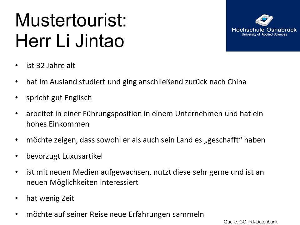 Mustertourist: Herr Li Jintao