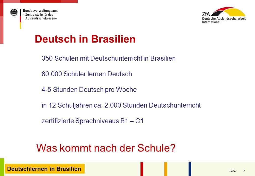 350 Schulen mit Deutschunterricht in Brasilien