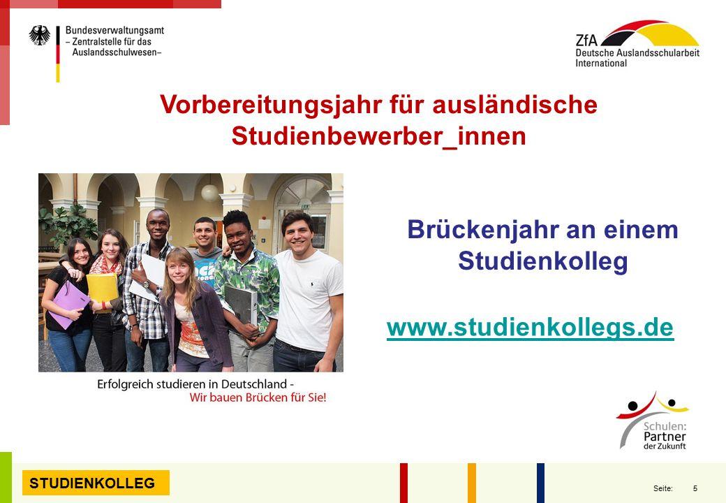 Vorbereitungsjahr für ausländische Studienbewerber_innen