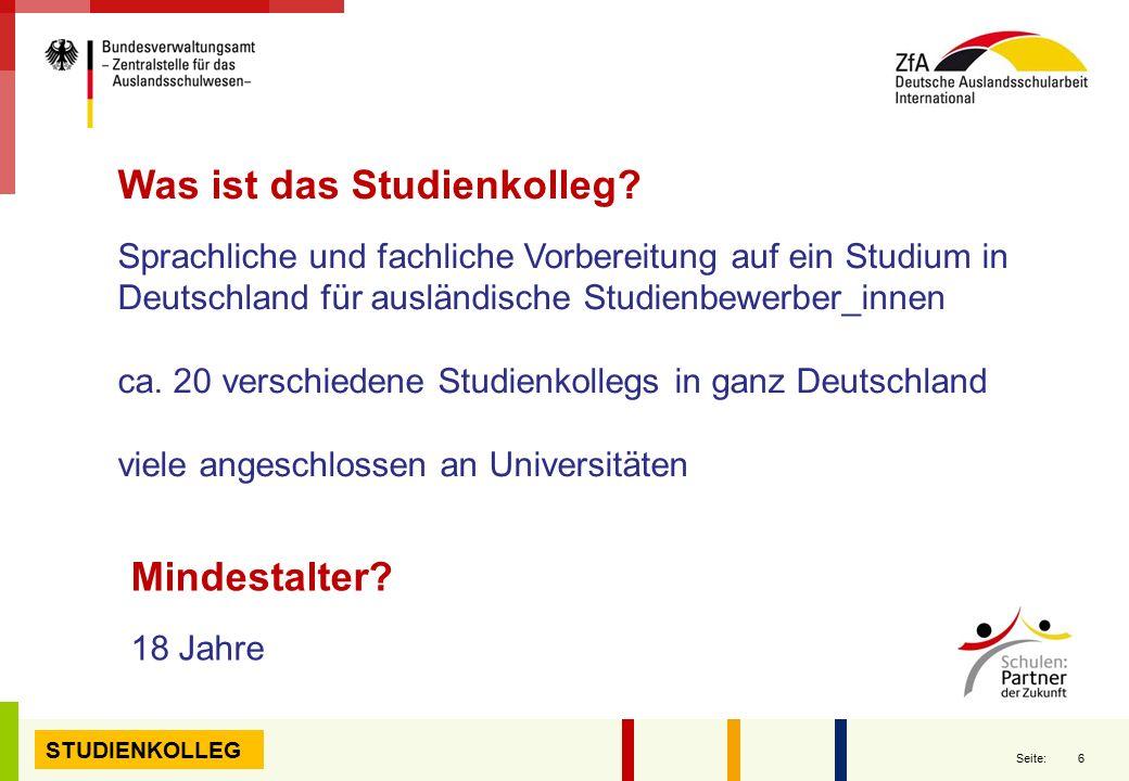 Was ist das Studienkolleg