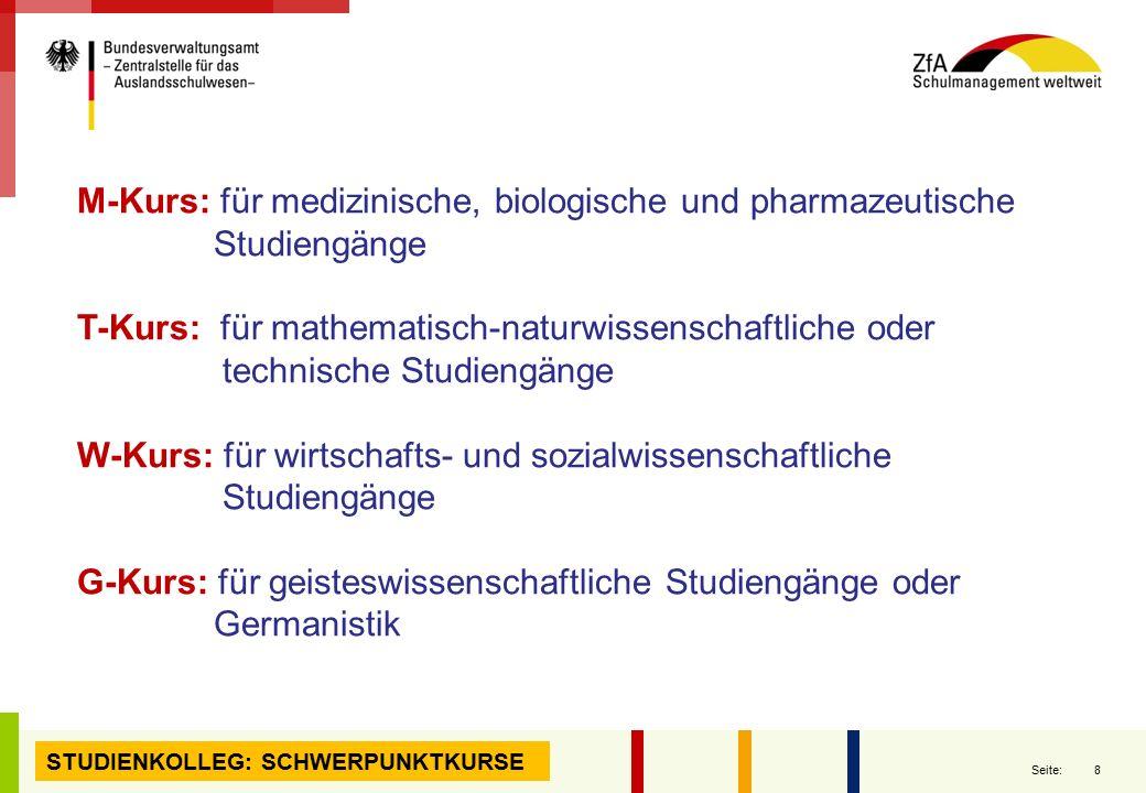 M-Kurs: für medizinische, biologische und pharmazeutische Studiengänge