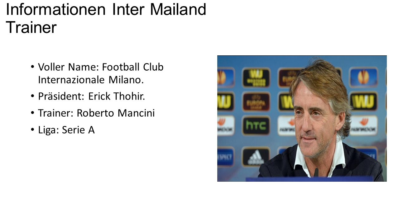 Informationen Inter Mailand Trainer