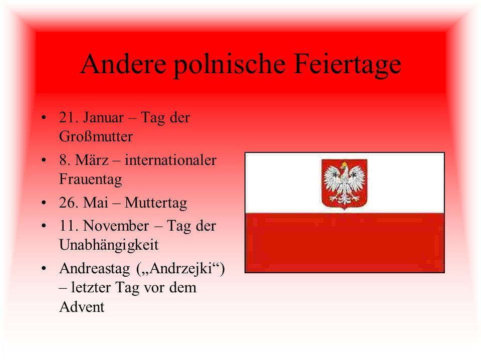Andere polnische Feiertage