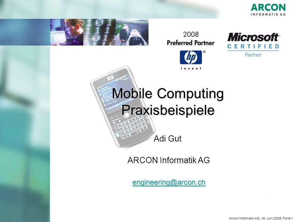 Mobile Computing Praxisbeispiele