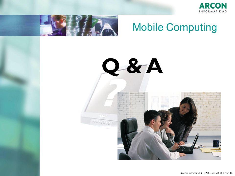Mobile Computing Q & A