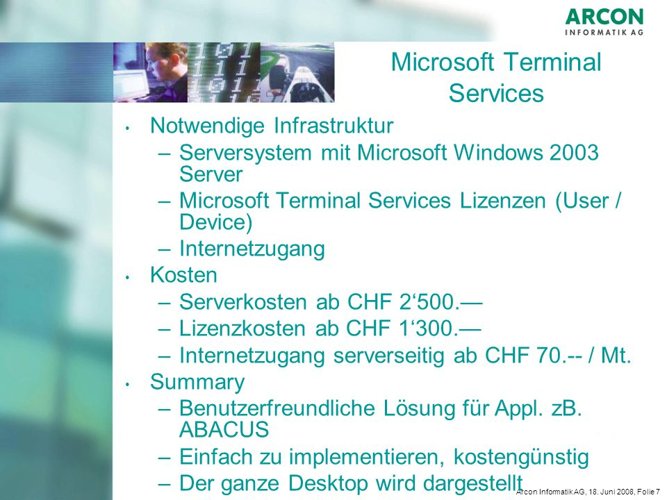 Microsoft Terminal Services