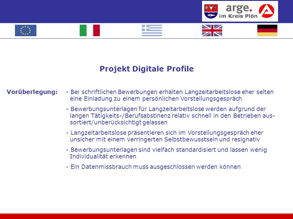 Projekt Digitale Profile