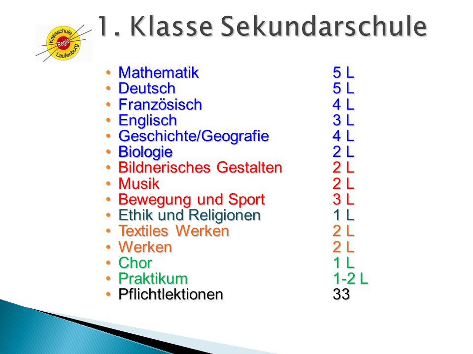 1. Klasse Sekundarschule