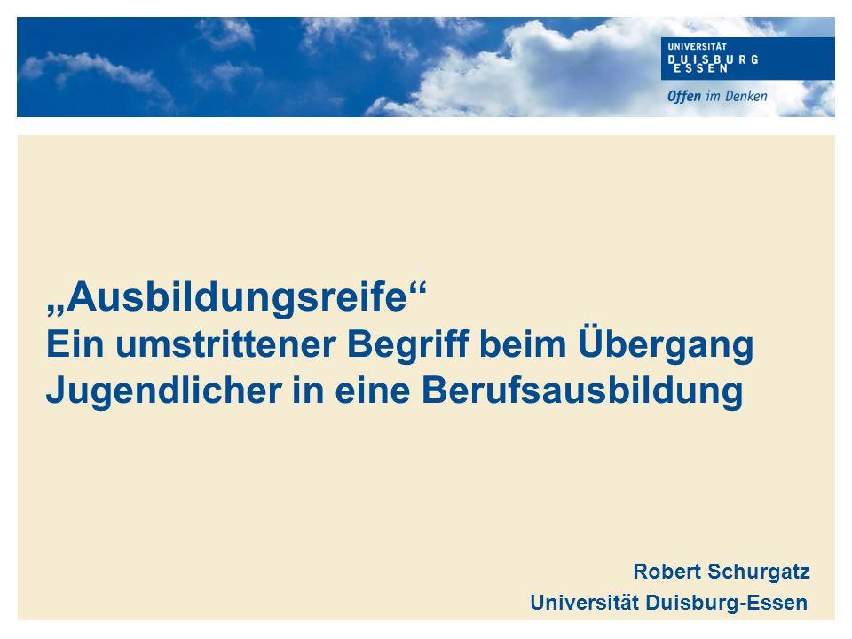Robert Schurgatz Universität Duisburg-Essen