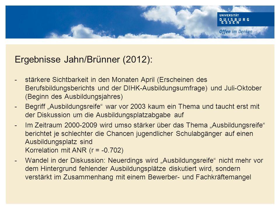 Ergebnisse Jahn/Brünner (2012):