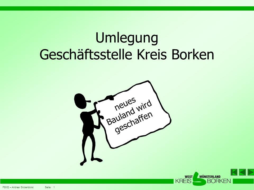Umlegung Geschäftsstelle Kreis Borken