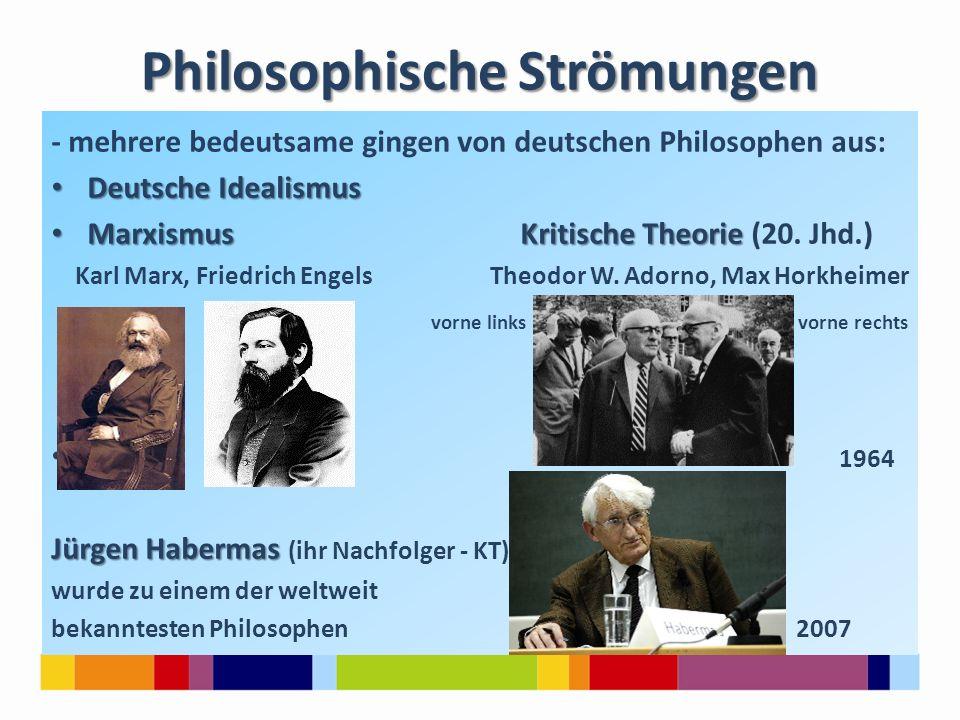 Philosophische Strömungen