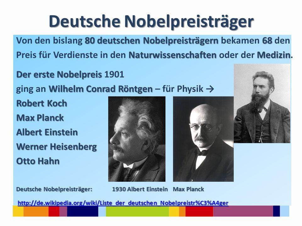 Deutsche Nobelpreisträger