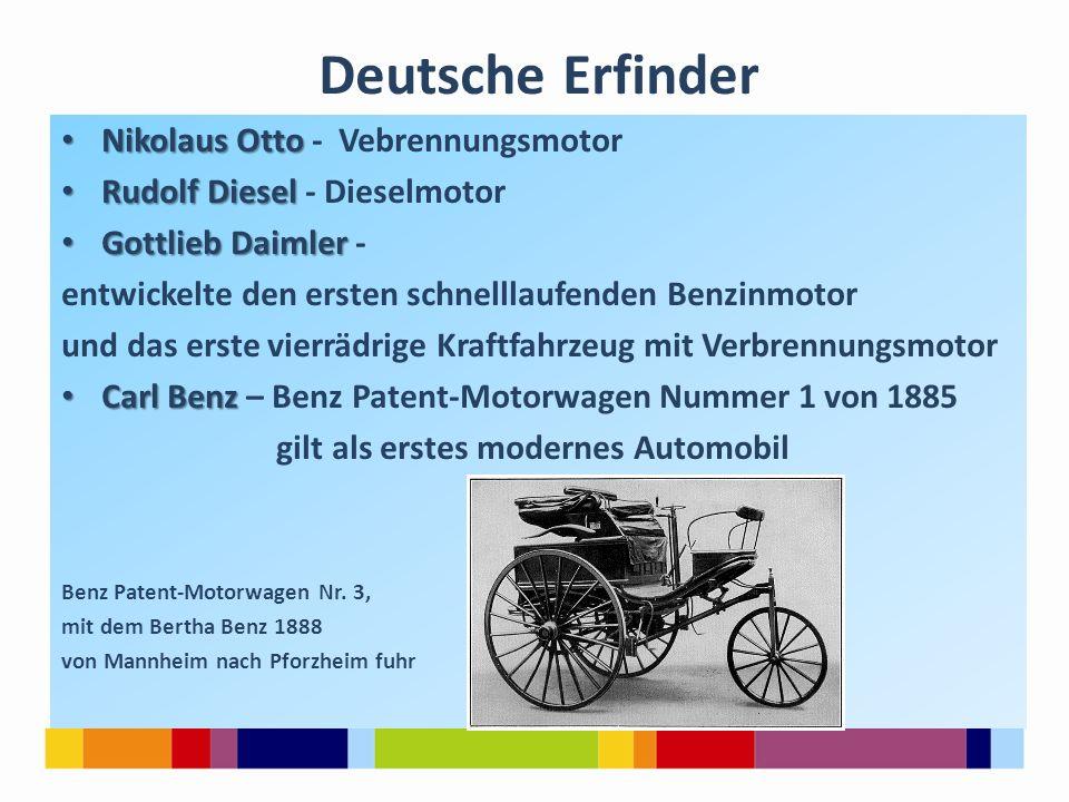 Deutsche Erfinder Nikolaus Otto - Vebrennungsmotor