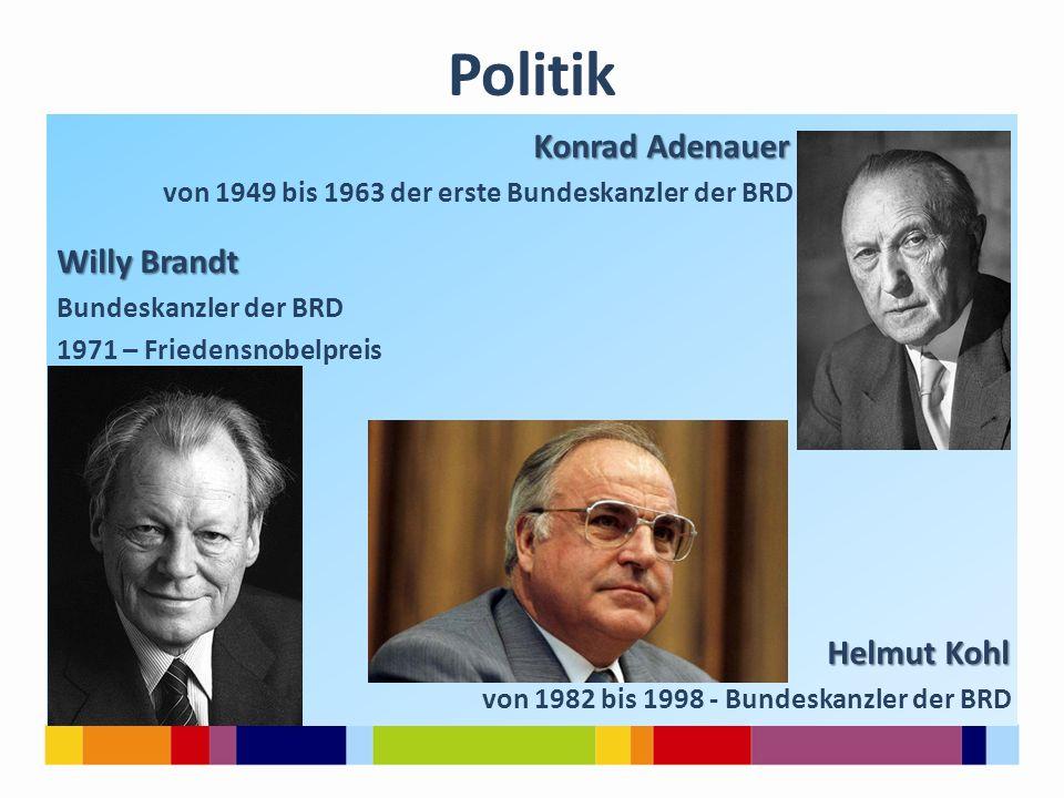 Politik Konrad Adenauer Willy Brandt Helmut Kohl