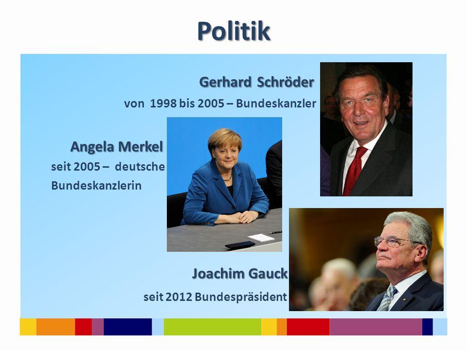 Politik Gerhard Schröder Angela Merkel Joachim Gauck