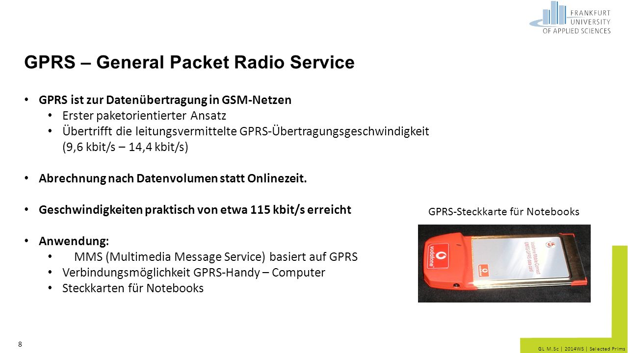 GPRS – General Packet Radio Service