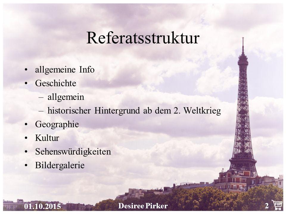 Referatsstruktur allgemeine Info Geschichte allgemein
