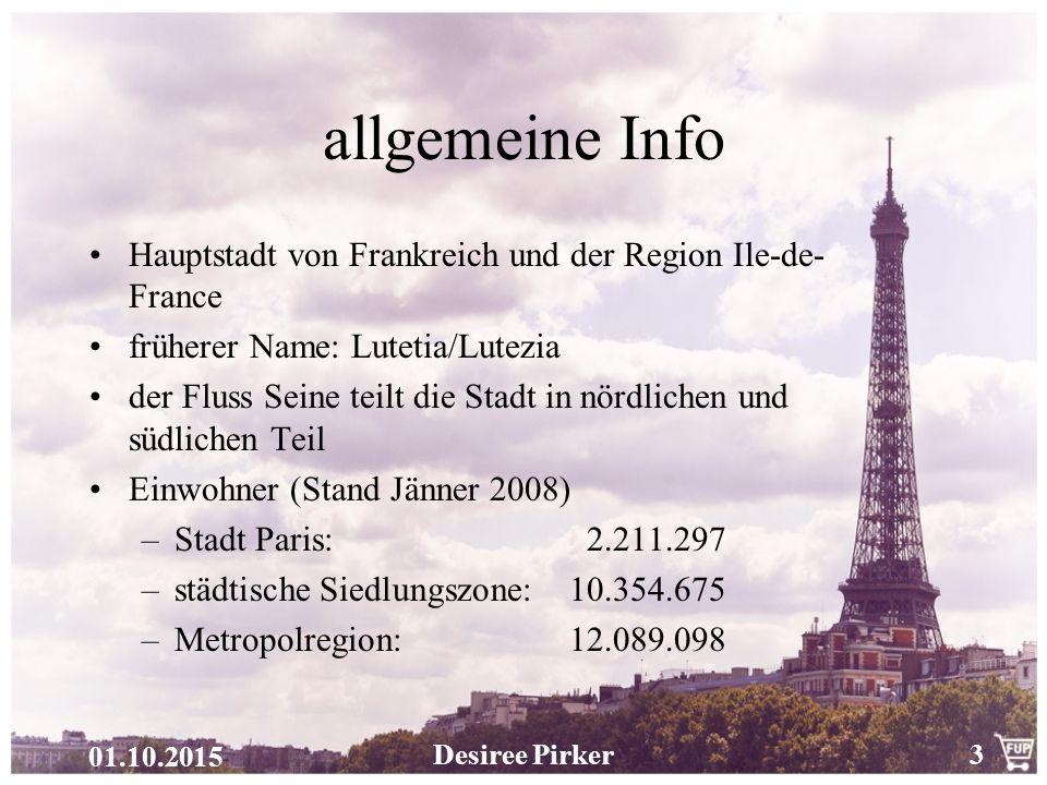 allgemeine Info Hauptstadt von Frankreich und der Region Ile-de-France