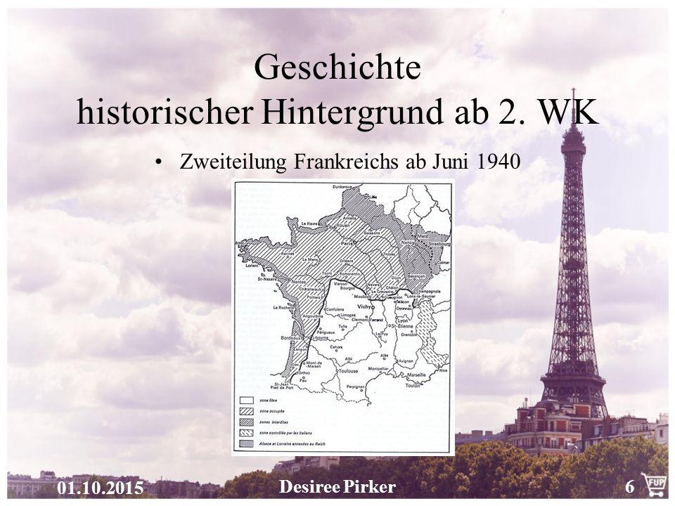 Geschichte historischer Hintergrund ab 2. WK