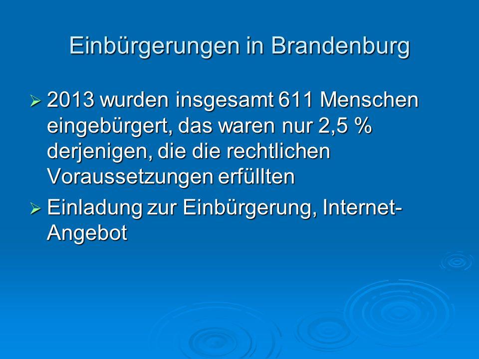 Einbürgerungen in Brandenburg