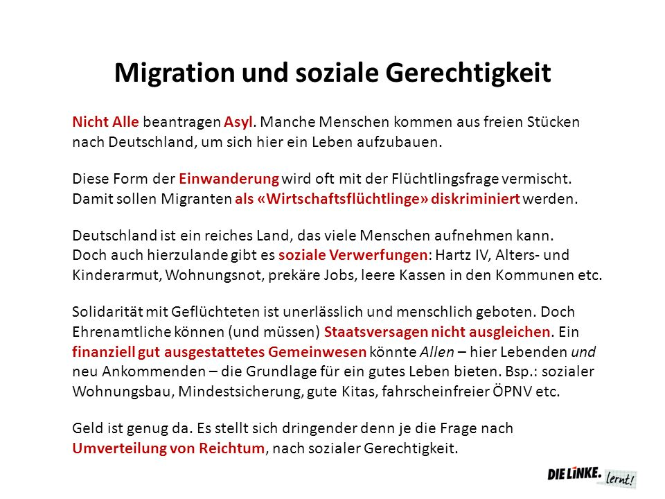 Migration und soziale Gerechtigkeit