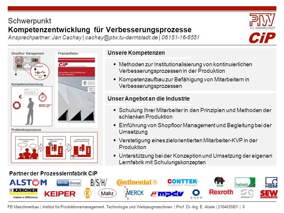 Schwerpunkt Flexible Teilefertigung Ansprechpartner: Stefan Seifermann | seifermann@ptw.tu-darmstadt.de | 06151-16-75305