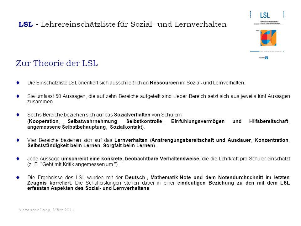 LSL - Lehrereinschätzliste für Sozial- und Lernverhalten