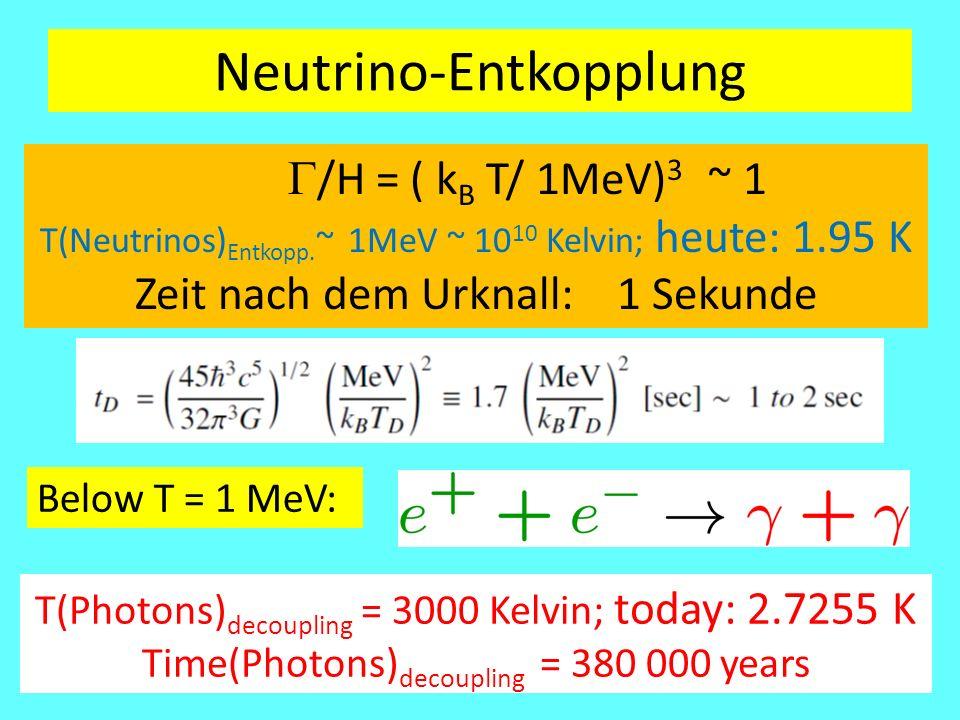 Neutrino-Entkopplung