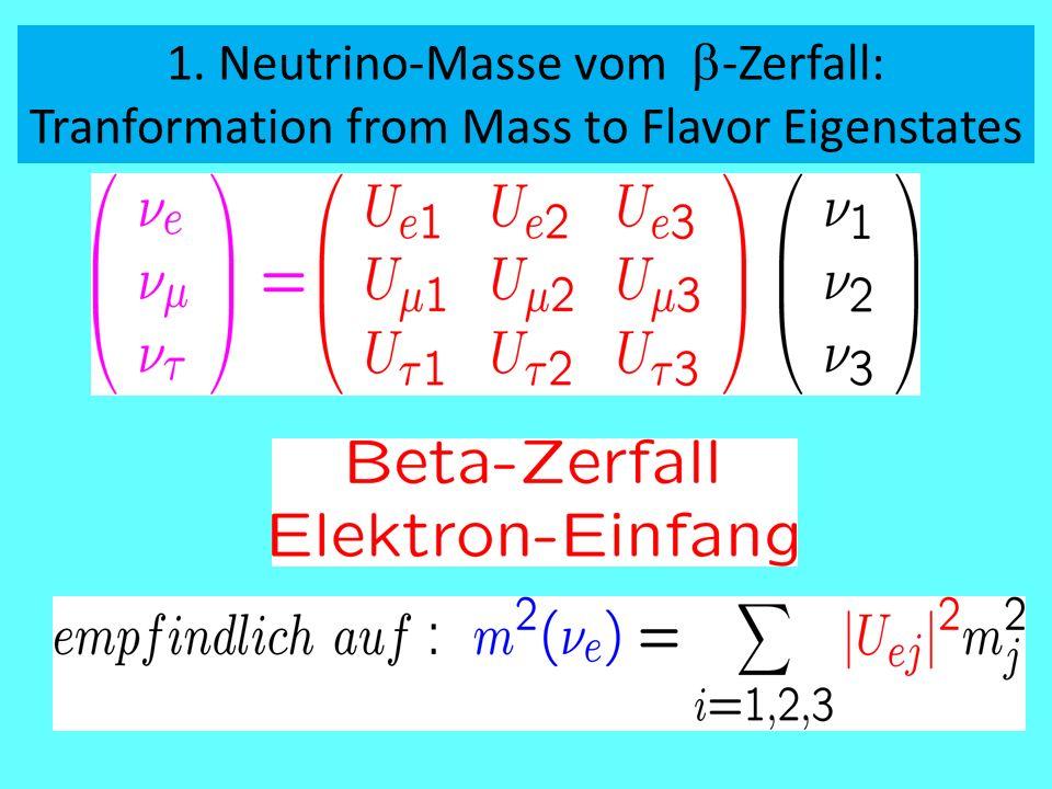 1. Neutrino-Masse vom b-Zerfall:
