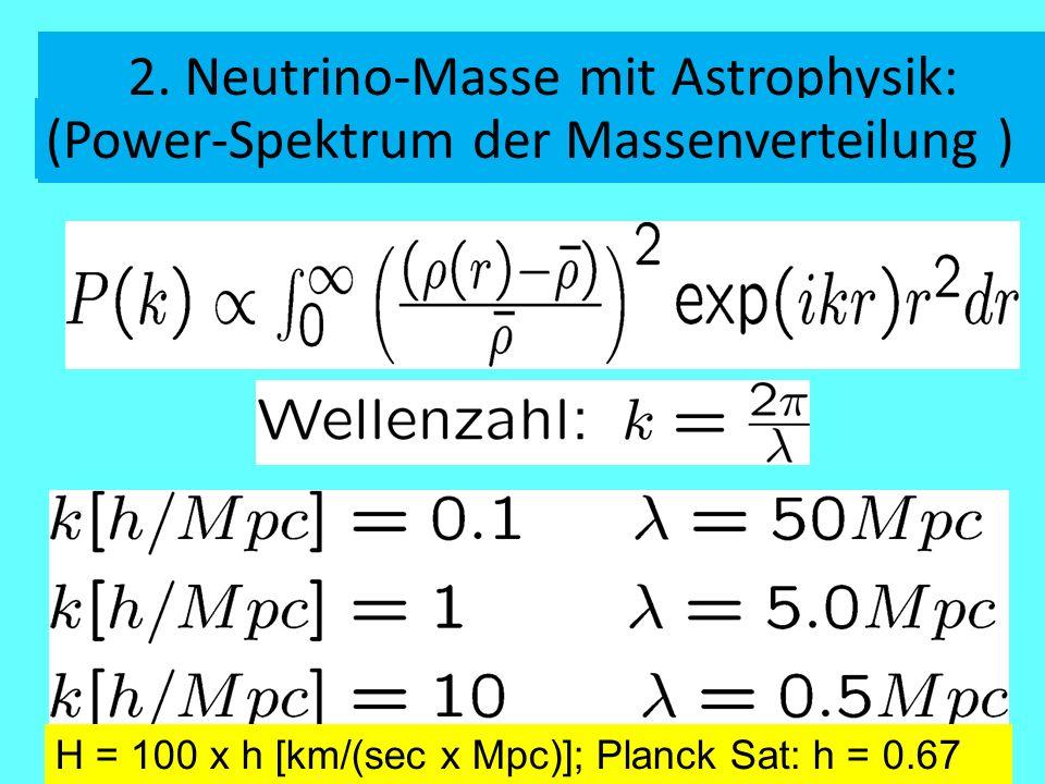2. Neutrino-Masse mit Astrophysik: