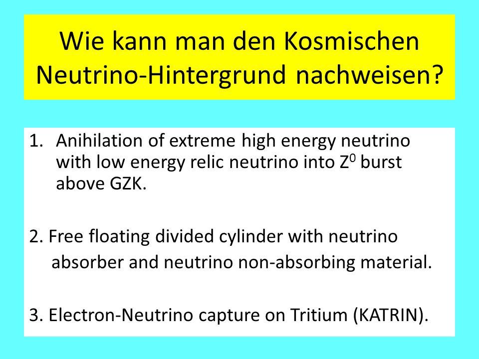 Wie kann man den Kosmischen Neutrino-Hintergrund nachweisen