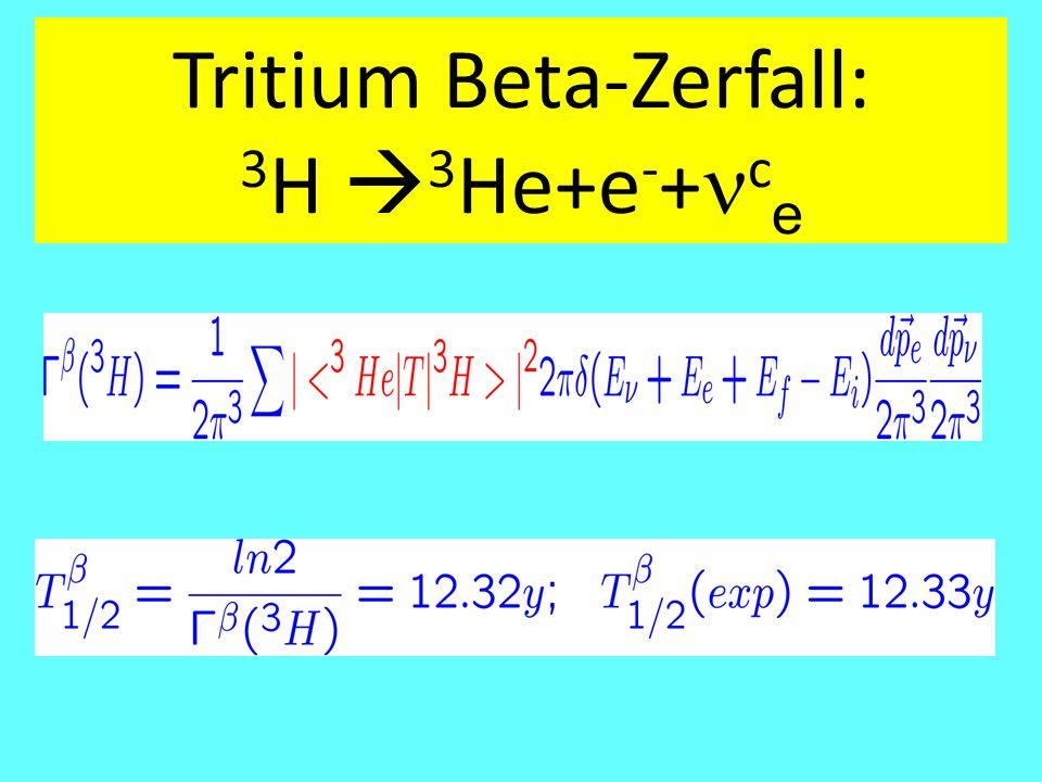 Tritium Beta-Zerfall: 3H 3He+e-+nce