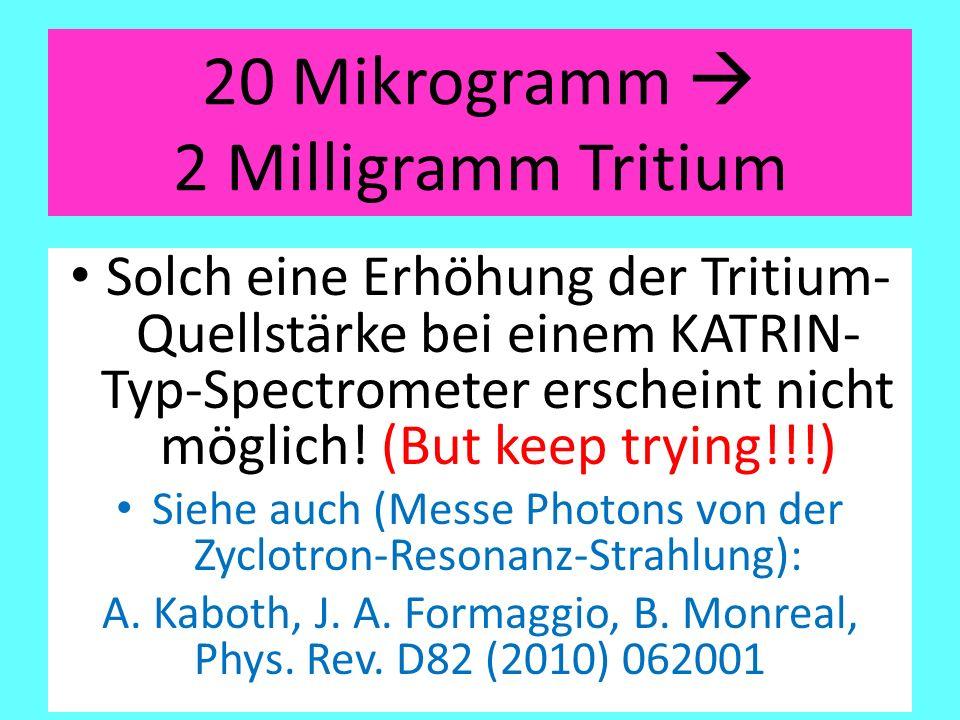 20 Mikrogramm  2 Milligramm Tritium