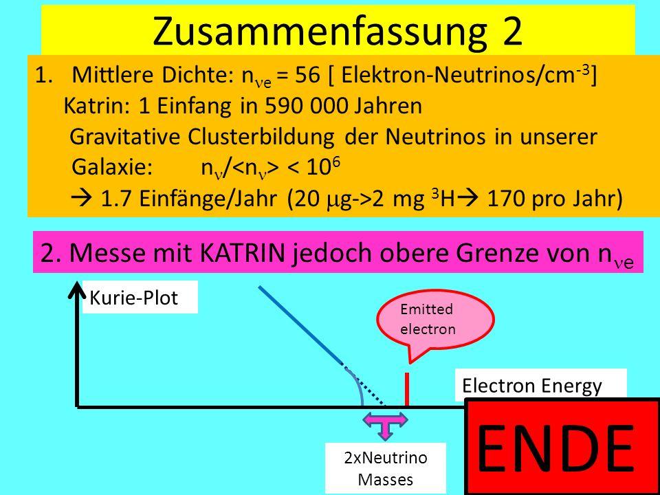 ENDE Zusammenfassung 2 2. Messe mit KATRIN jedoch obere Grenze von nne
