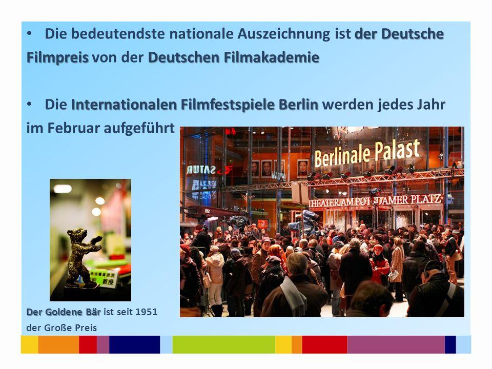 Die bedeutendste nationale Auszeichnung ist der Deutsche