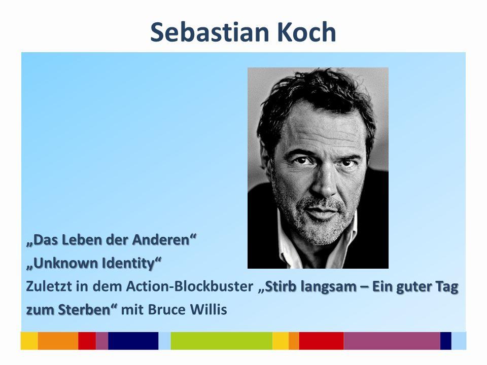 """Sebastian Koch """"Das Leben der Anderen """"Unknown Identity"""