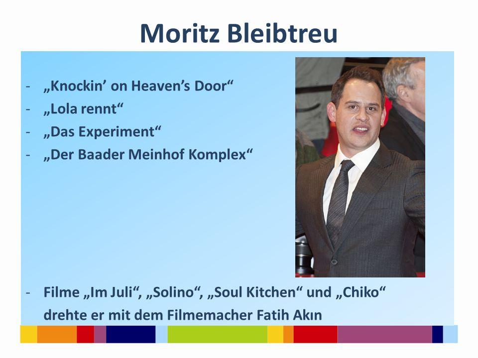 "Moritz Bleibtreu ""Knockin' on Heaven's Door ""Lola rennt"
