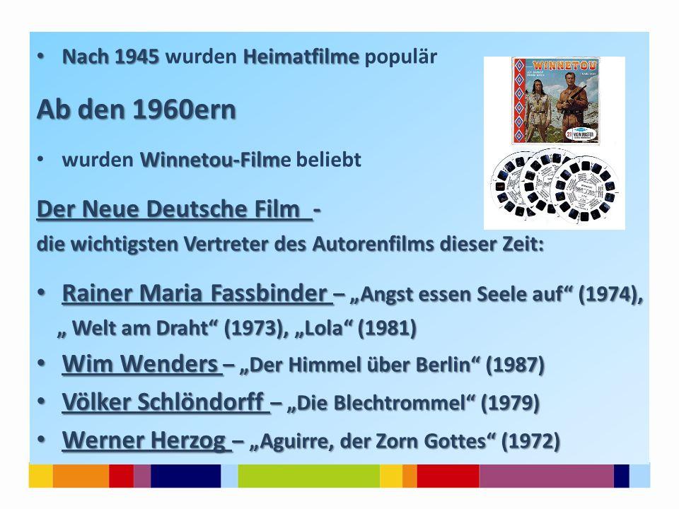 Ab den 1960ern Der Neue Deutsche Film -