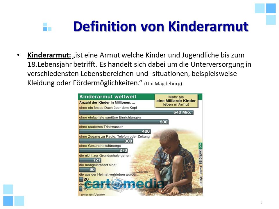 Definition von Kinderarmut