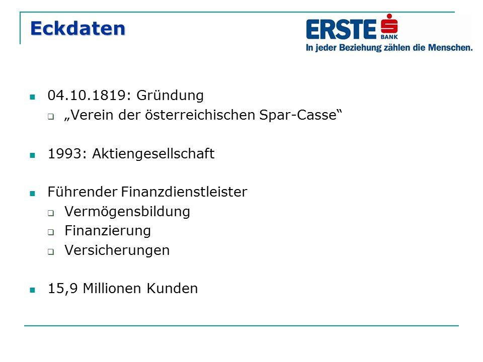 """Eckdaten 04.10.1819: Gründung """"Verein der österreichischen Spar-Casse"""