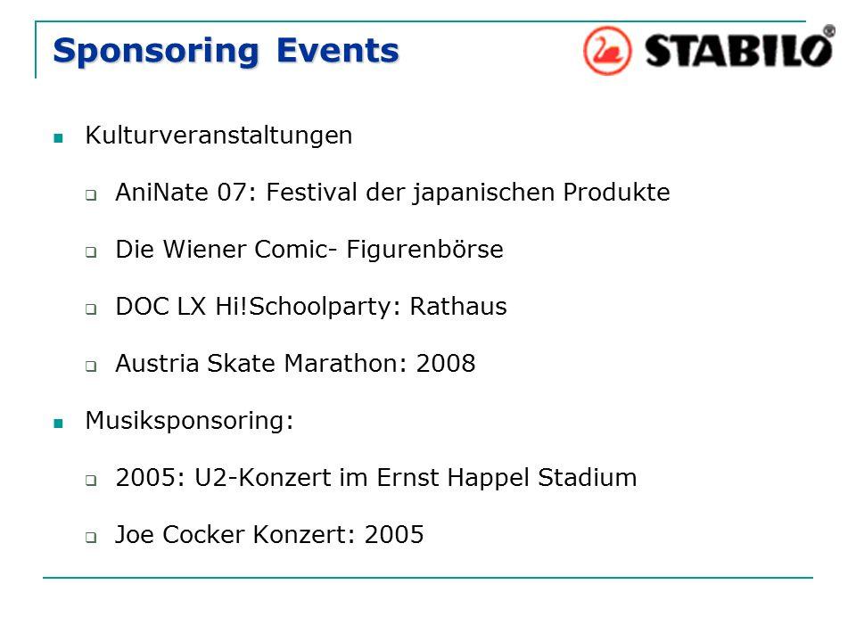 Sponsoring Events Kulturveranstaltungen