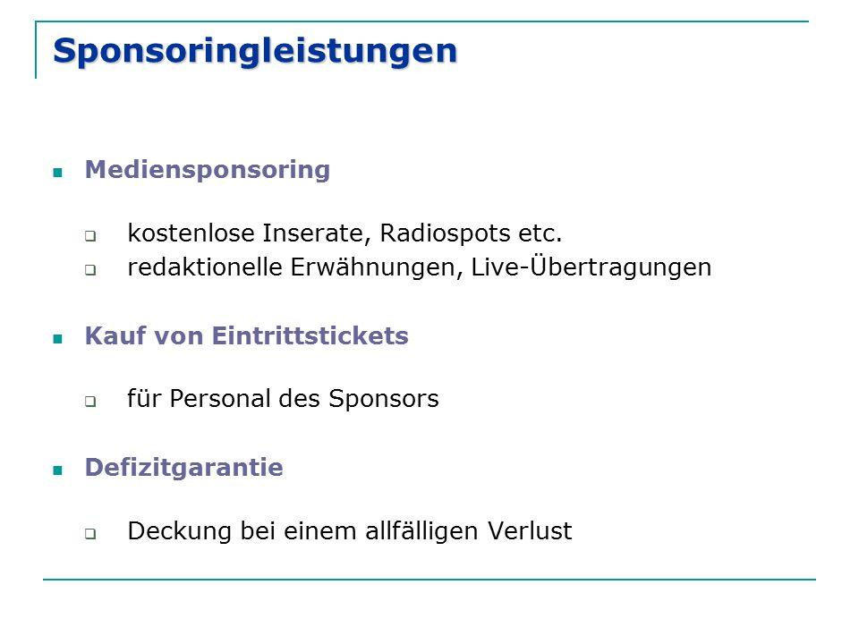 Sponsoringleistungen