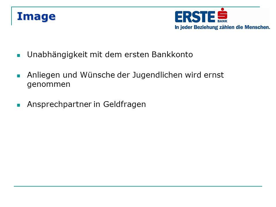 Image Unabhängigkeit mit dem ersten Bankkonto
