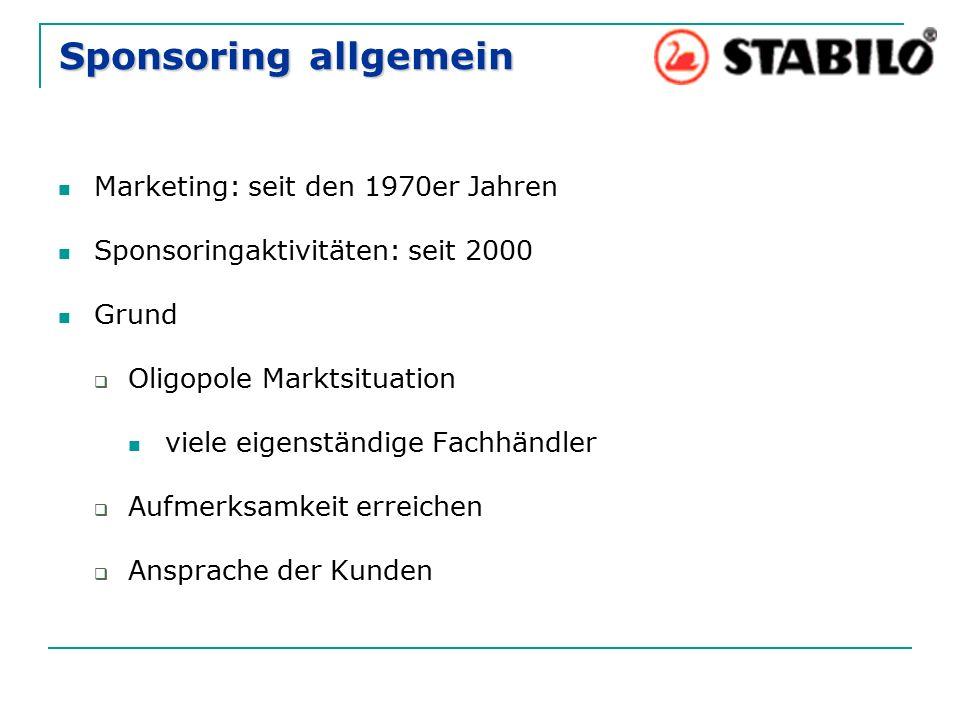 Sponsoring allgemein Marketing: seit den 1970er Jahren