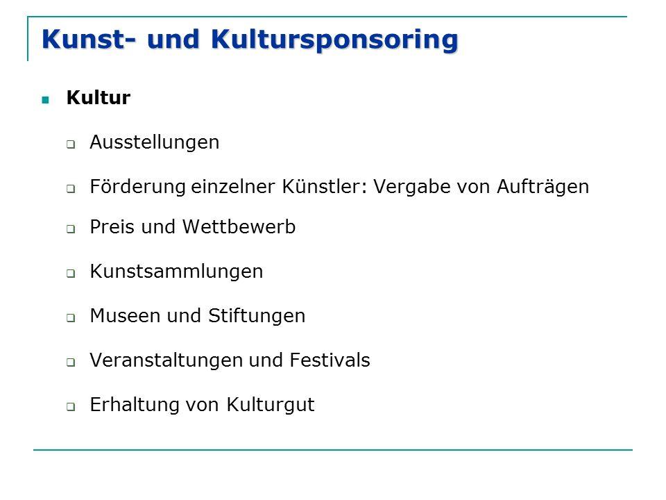 Kunst- und Kultursponsoring